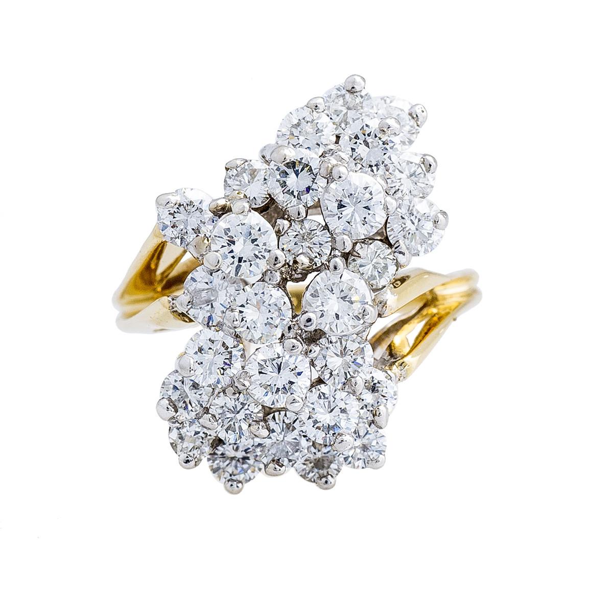 Vintage 3.50 CTW Diamond Cluster Ring