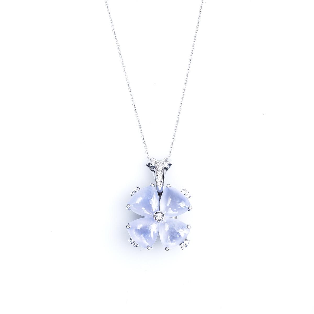Vintage 0.12 CTW Diamond Flower Necklace