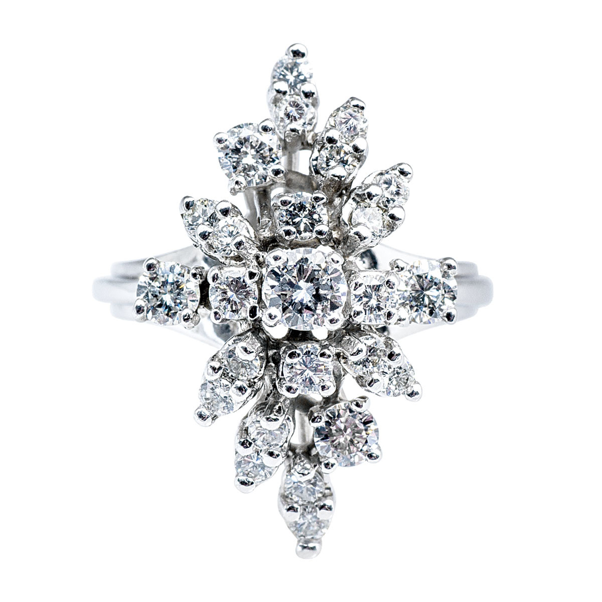 Vintage 1.00 CTW Diamond Cocktail Ring