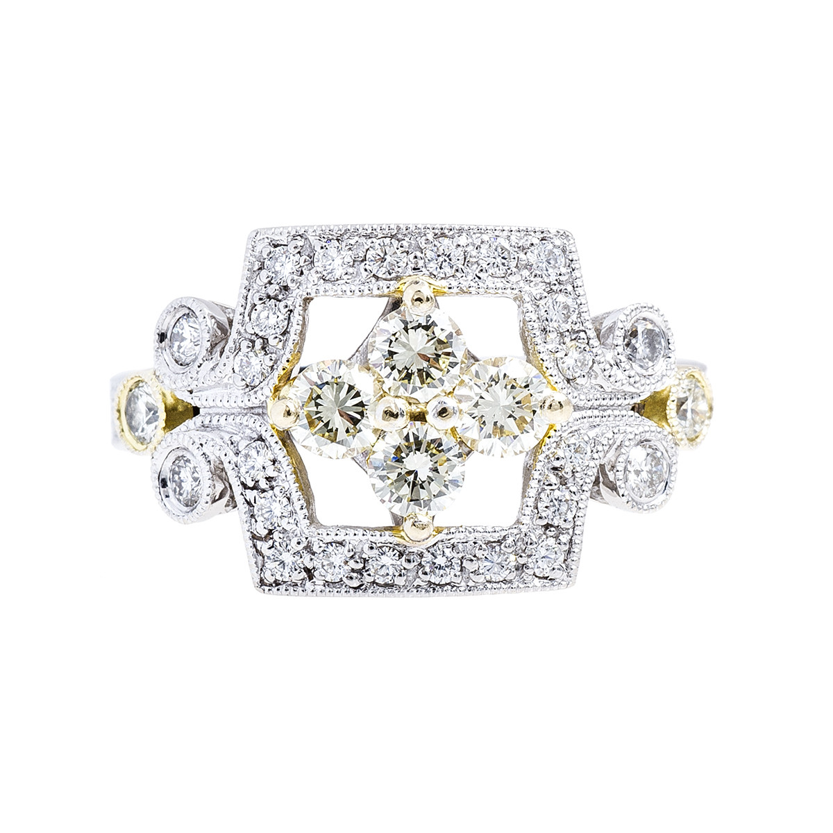 Vintage 0.88 CTW Diamond Ring