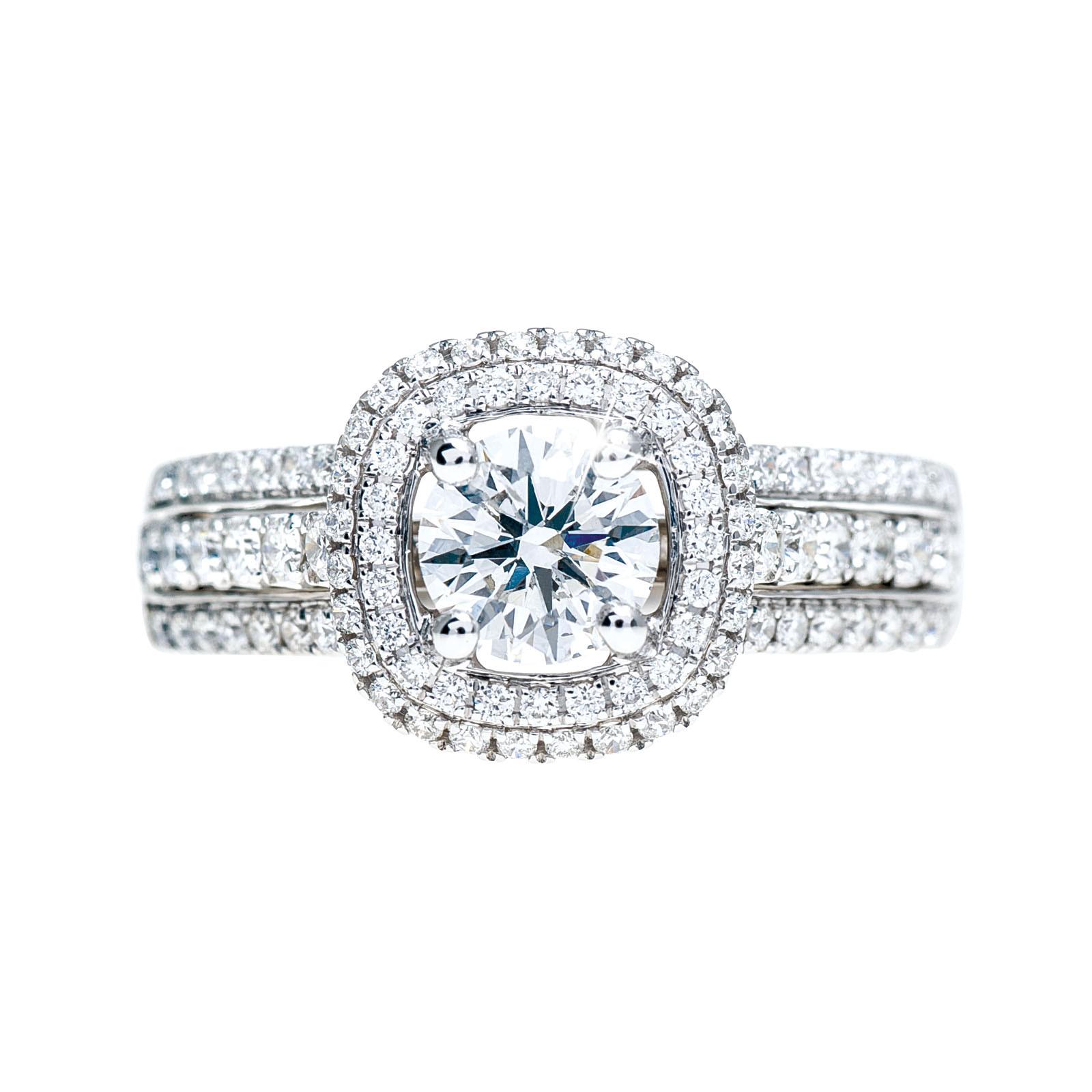 Vintage Simon G 1.30 CTW Diamond Engagement Ring