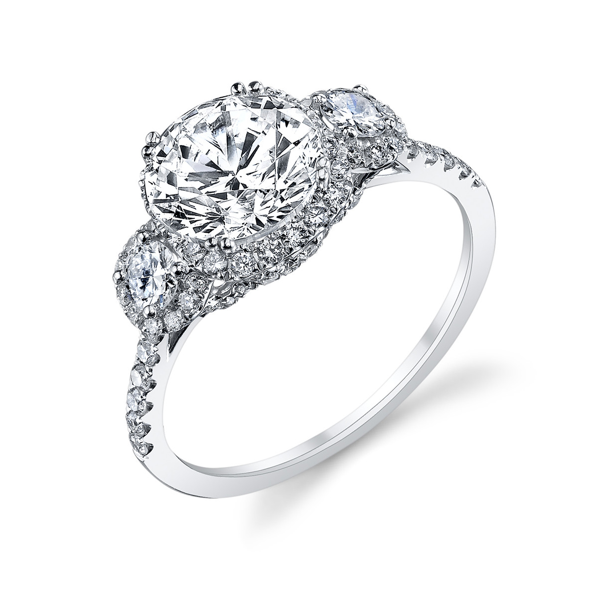 New Venetti 0.72 CTW Diamond Halo Ring Setting