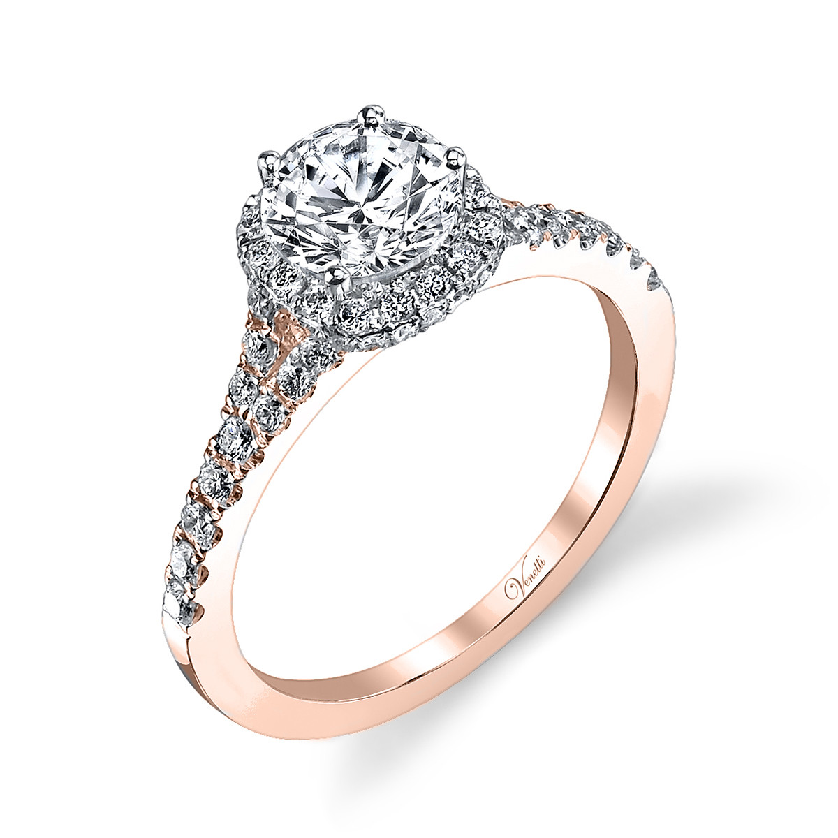 New Venetti 0.51 CTW Diamond Halo Ring Setting
