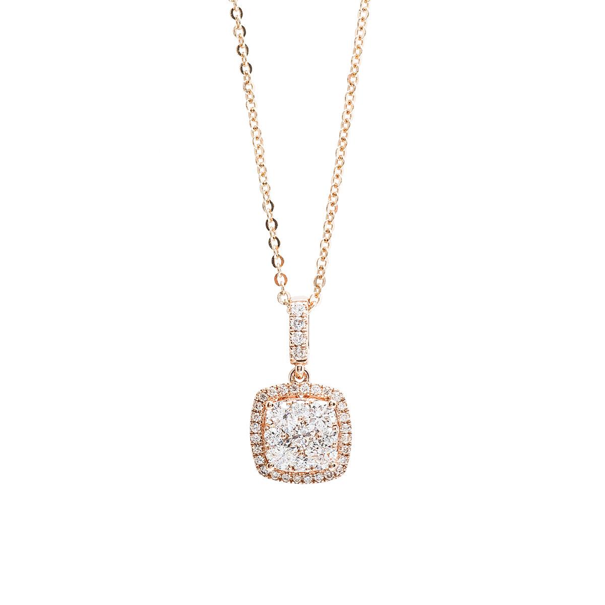 New 0.65 CTW Diamond Cluster Necklace
