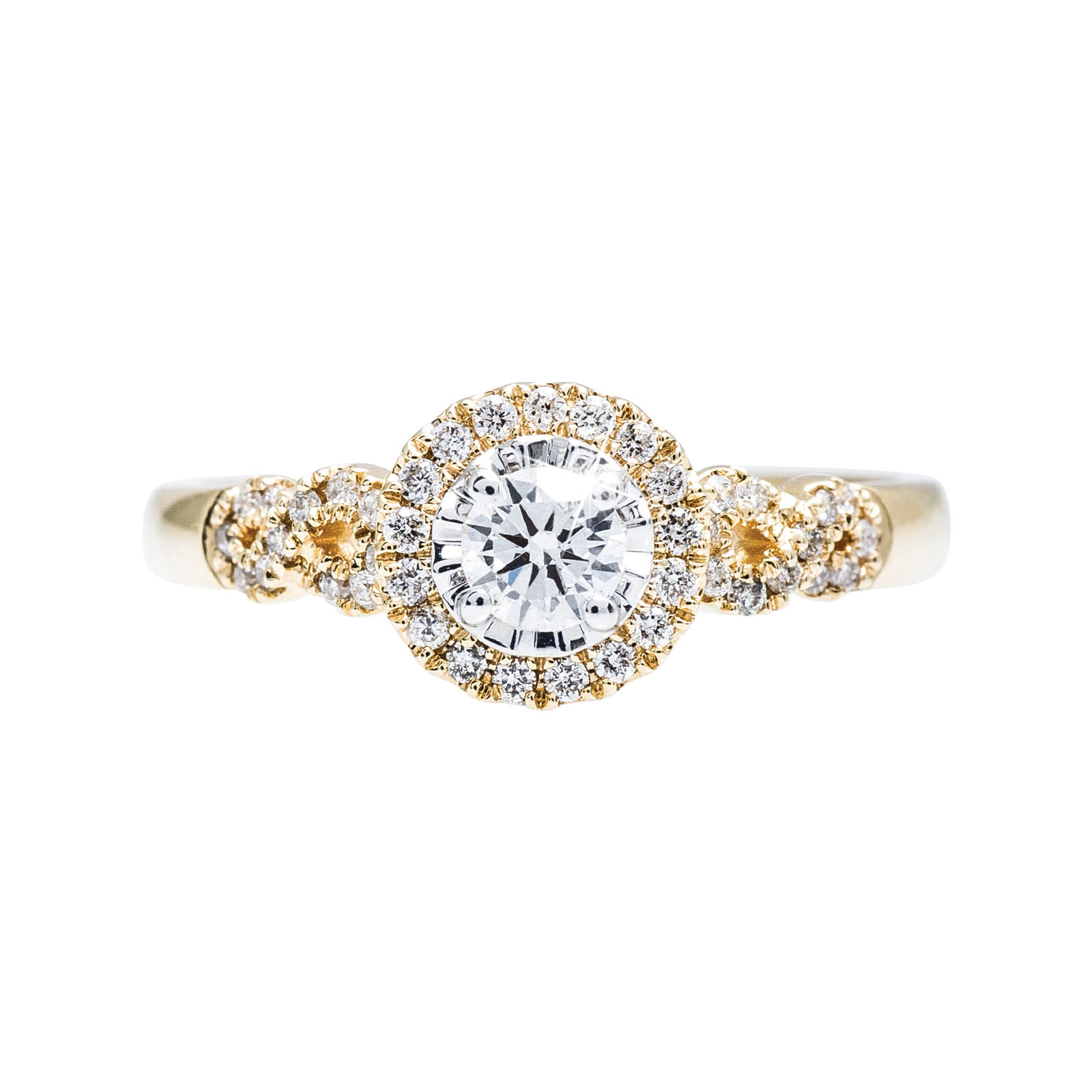 New 0.38 CTW Diamond Halo Engagement Ring