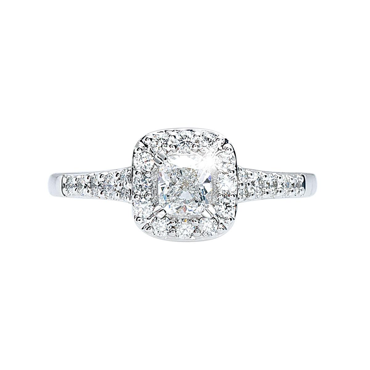 New 0.85 CTW Diamond Halo Engagement Ring