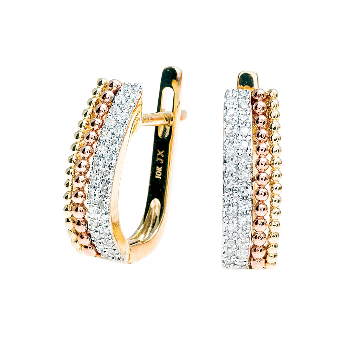 New 0.15 CTW Diamond Hoop Earrings