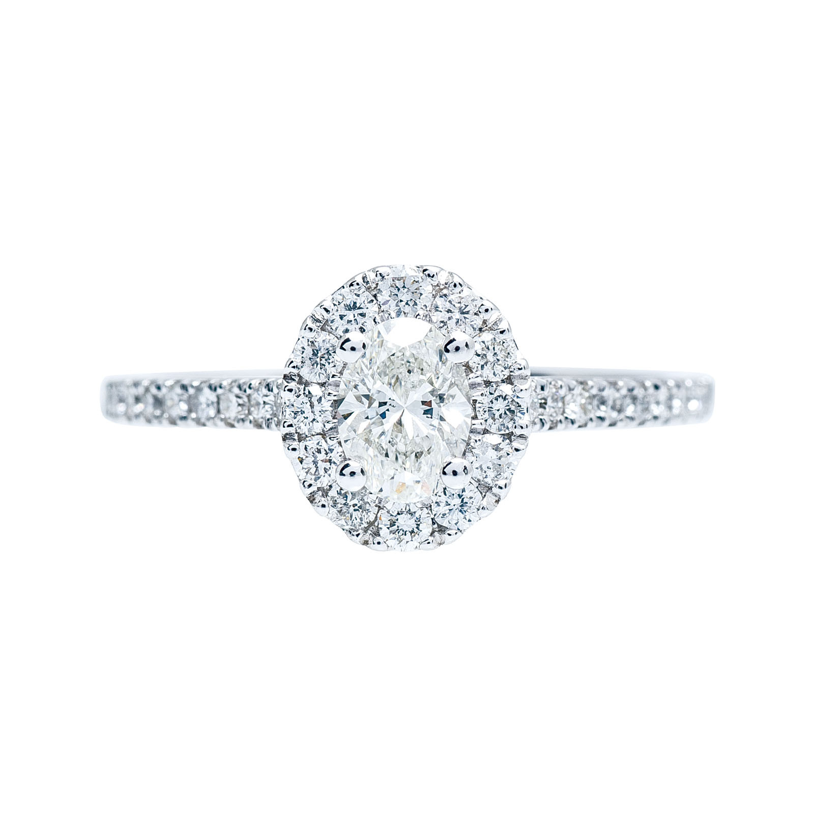 New 0.84 CTW Diamond Halo Engagement Ring