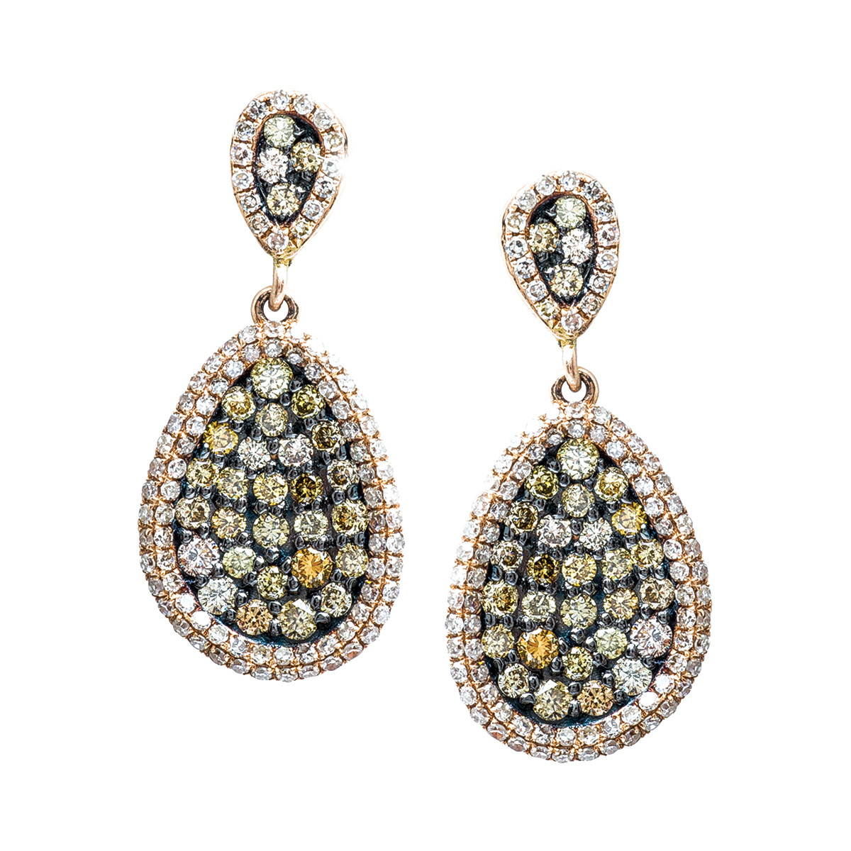 New Madison L 1.52 CTW White & Yellow-Brown Diamond Earrings