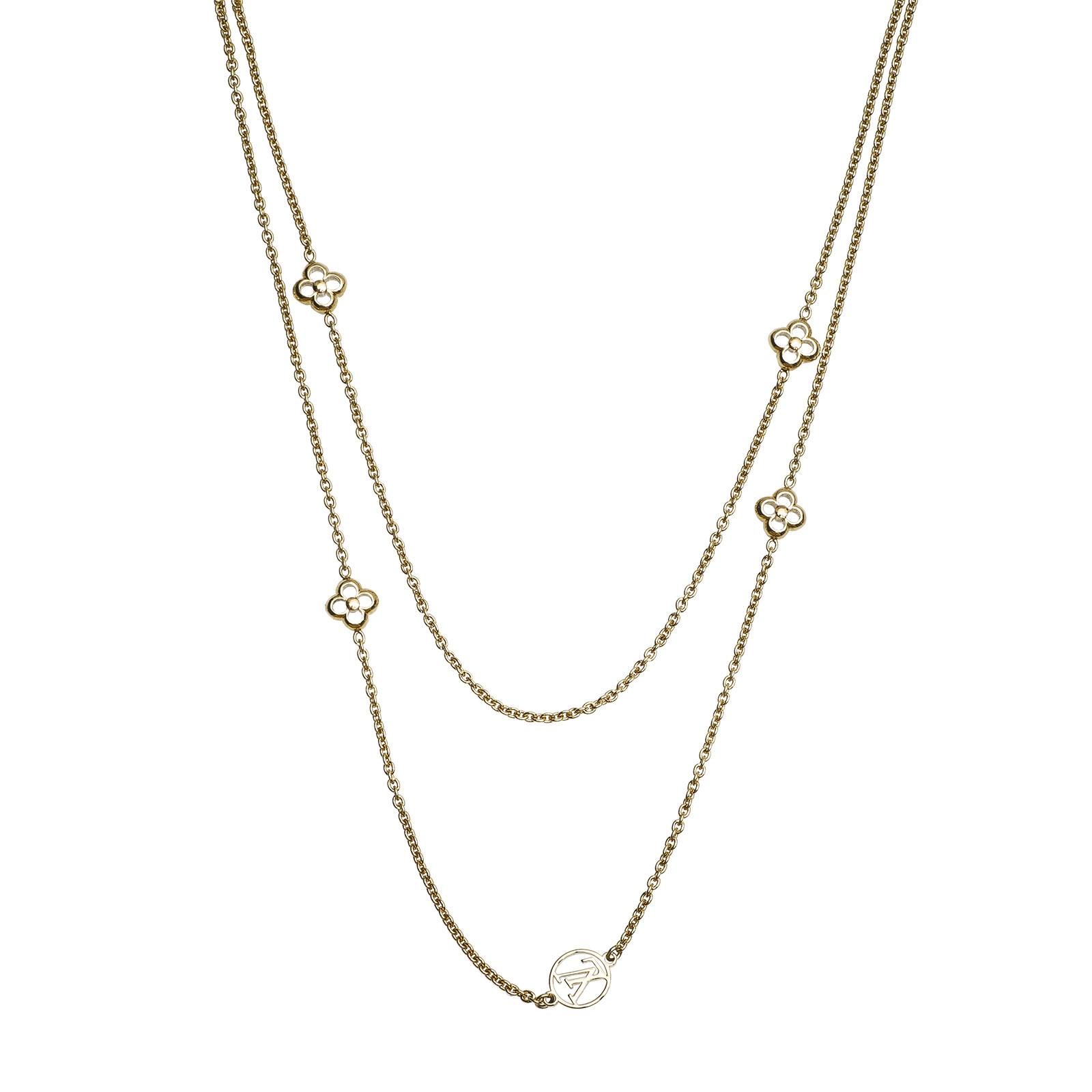 Vintage Louis Vuitton Flower Full Long Necklace
