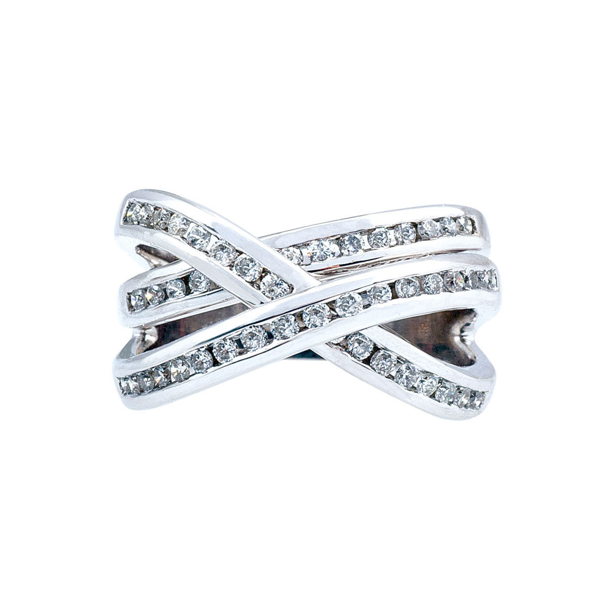 Vintage 0.50 CTW Diamond Crossover Ring