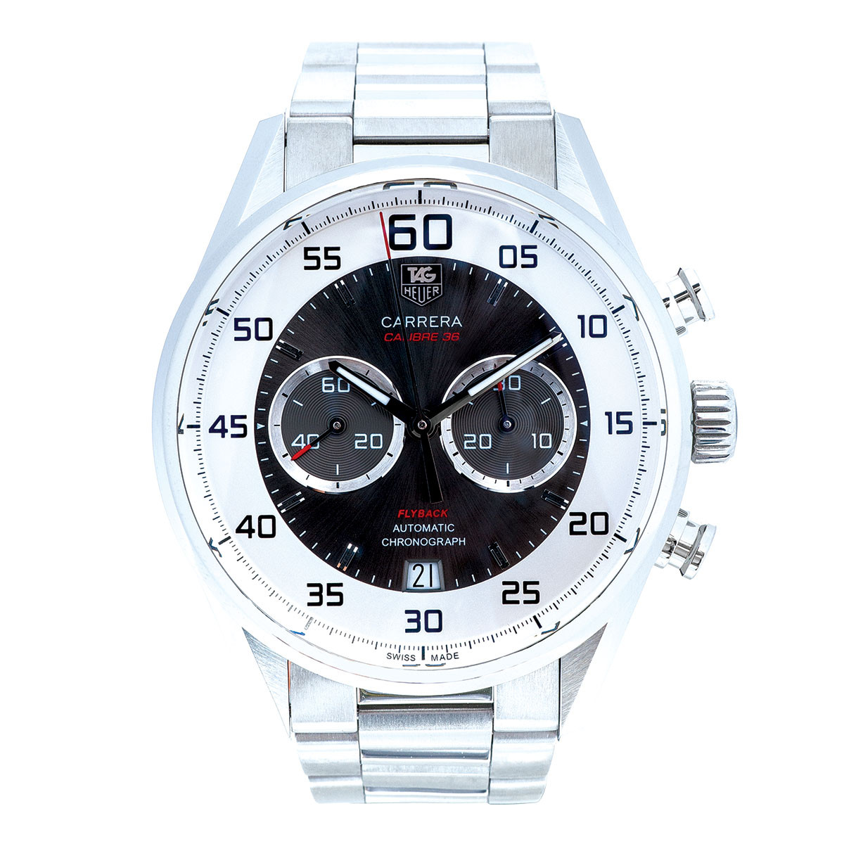 Pre-Owned Men's Tag Heuer Carrera Fly Back