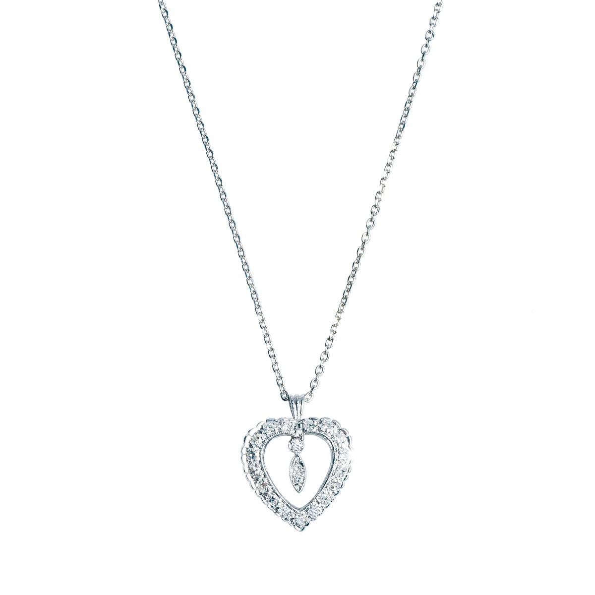 Vintage 0.40 CTW Diamond Heart Pendant