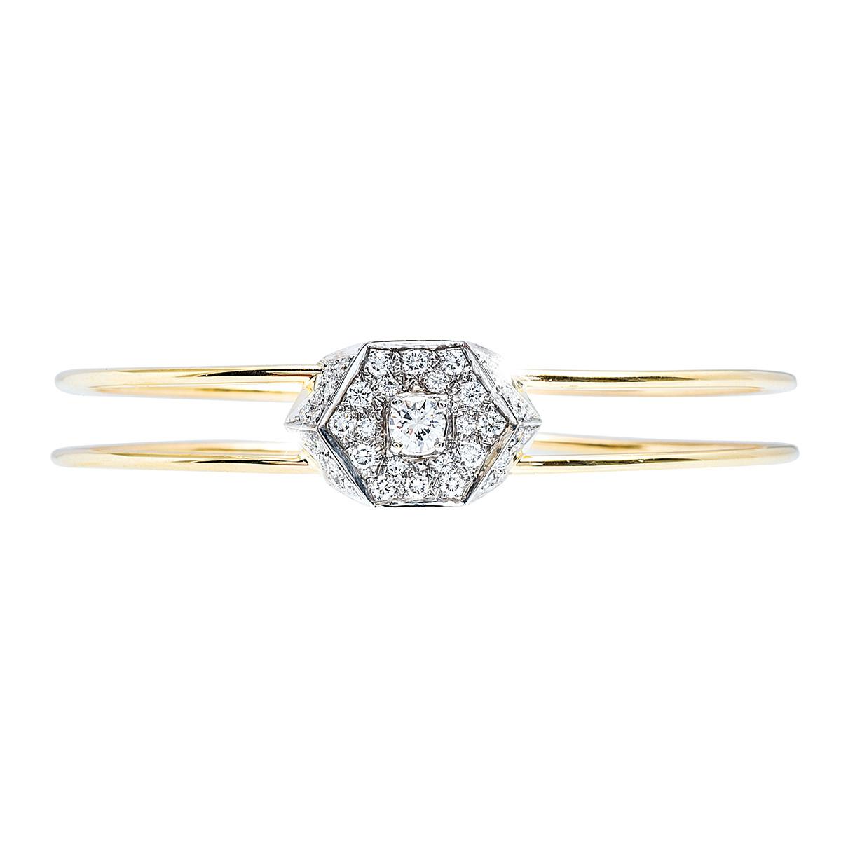 Vintage 1.26 CTW Diamond Cuff Bracelet