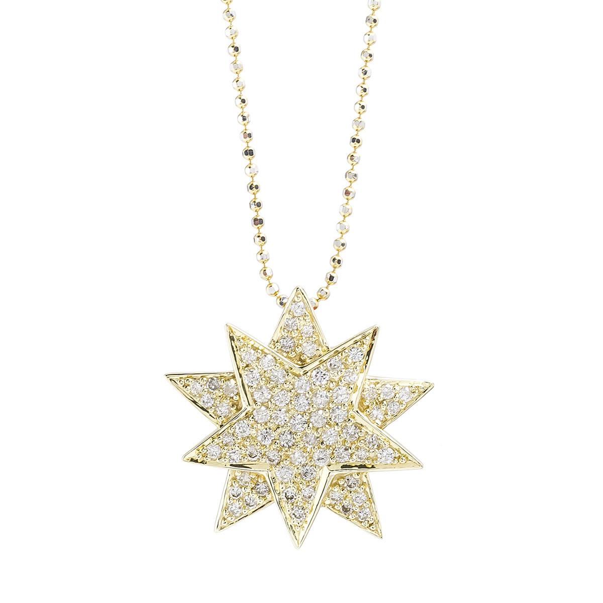 Vintage 0.67 CTW Diamond Star Necklace