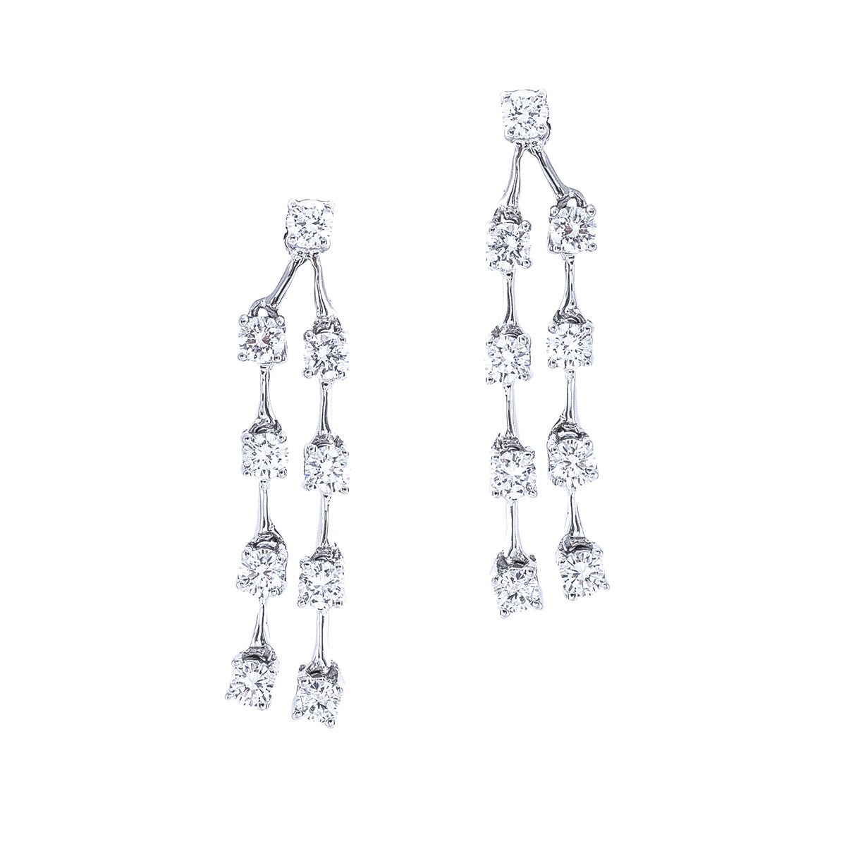 Vintage 0.72 CTW Diamond Dangle Earrings