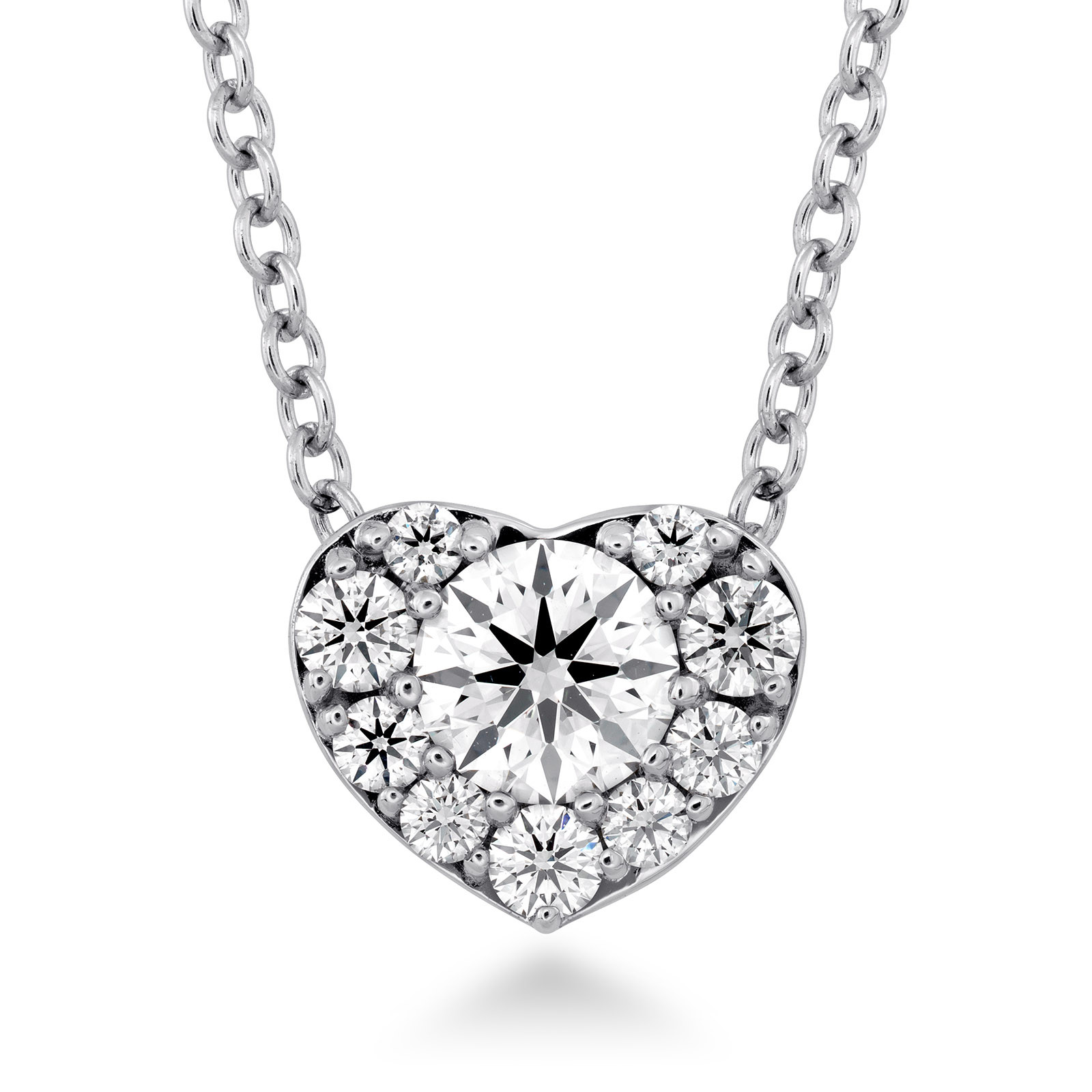 New Hearts On Fire® 0.43 CTW Diamond Fulfillment Heart Necklace