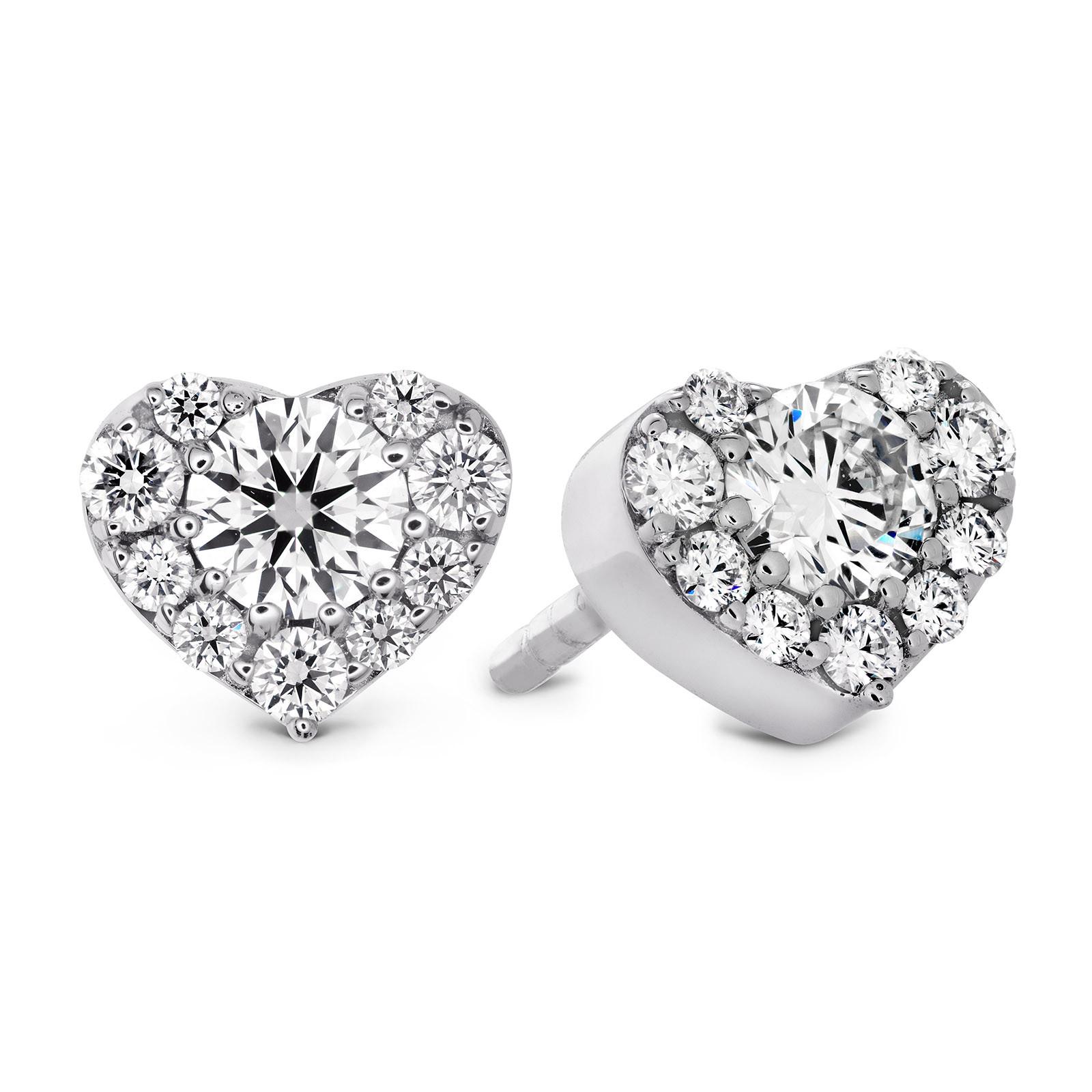 New Hearts On Fire® 0.45 CTW Diamond Fulfillment Heart Stud Earrings