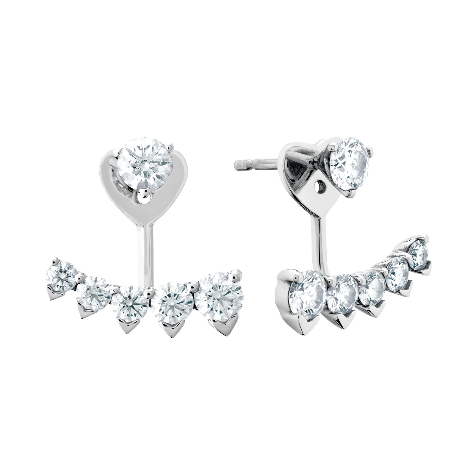 New Hearts On Fire® 1.39 CTW Diamond Stud Earrings and Jackets