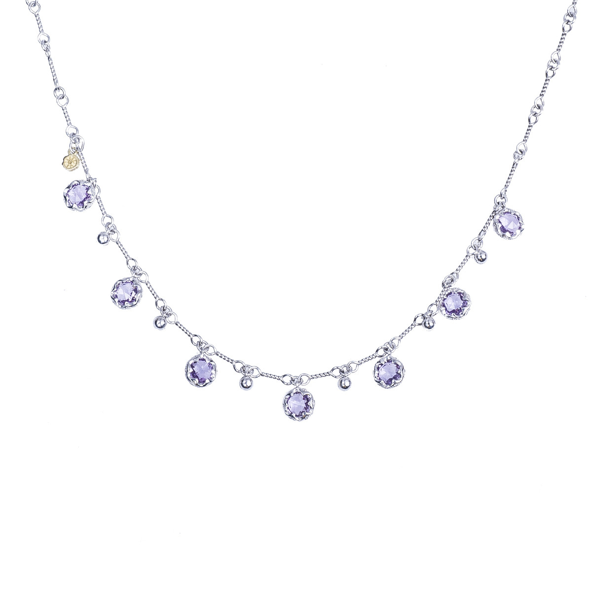 Vintage Tacori 3.22 CTW Amethyst Sonoma Skies Multi Gem Drop Necklace