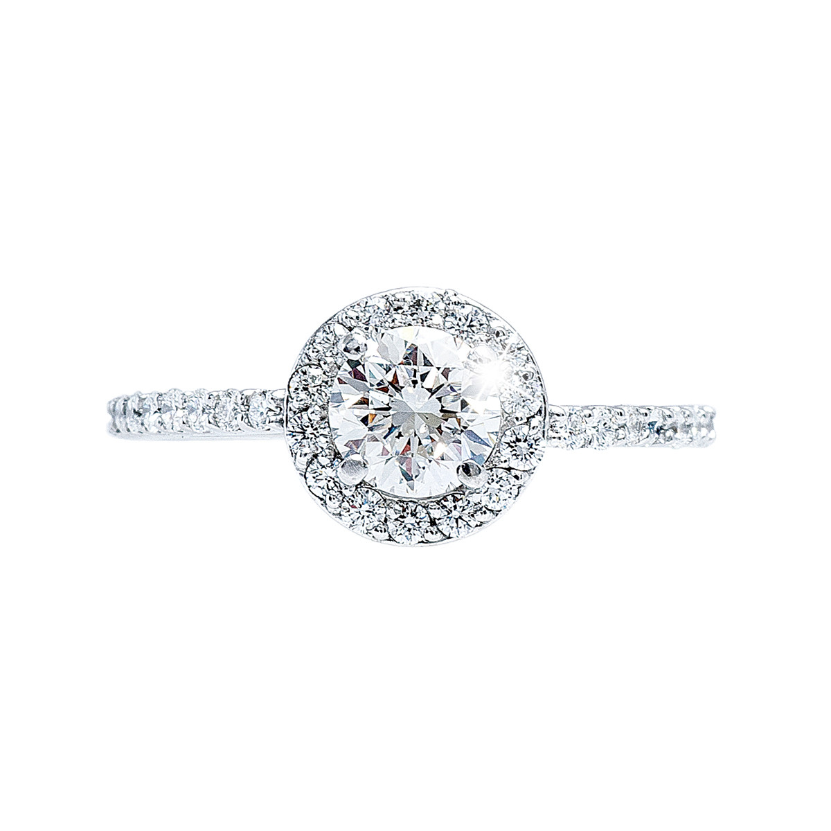 Vintage 0.99 CTW Diamond Halo Engagement Ring