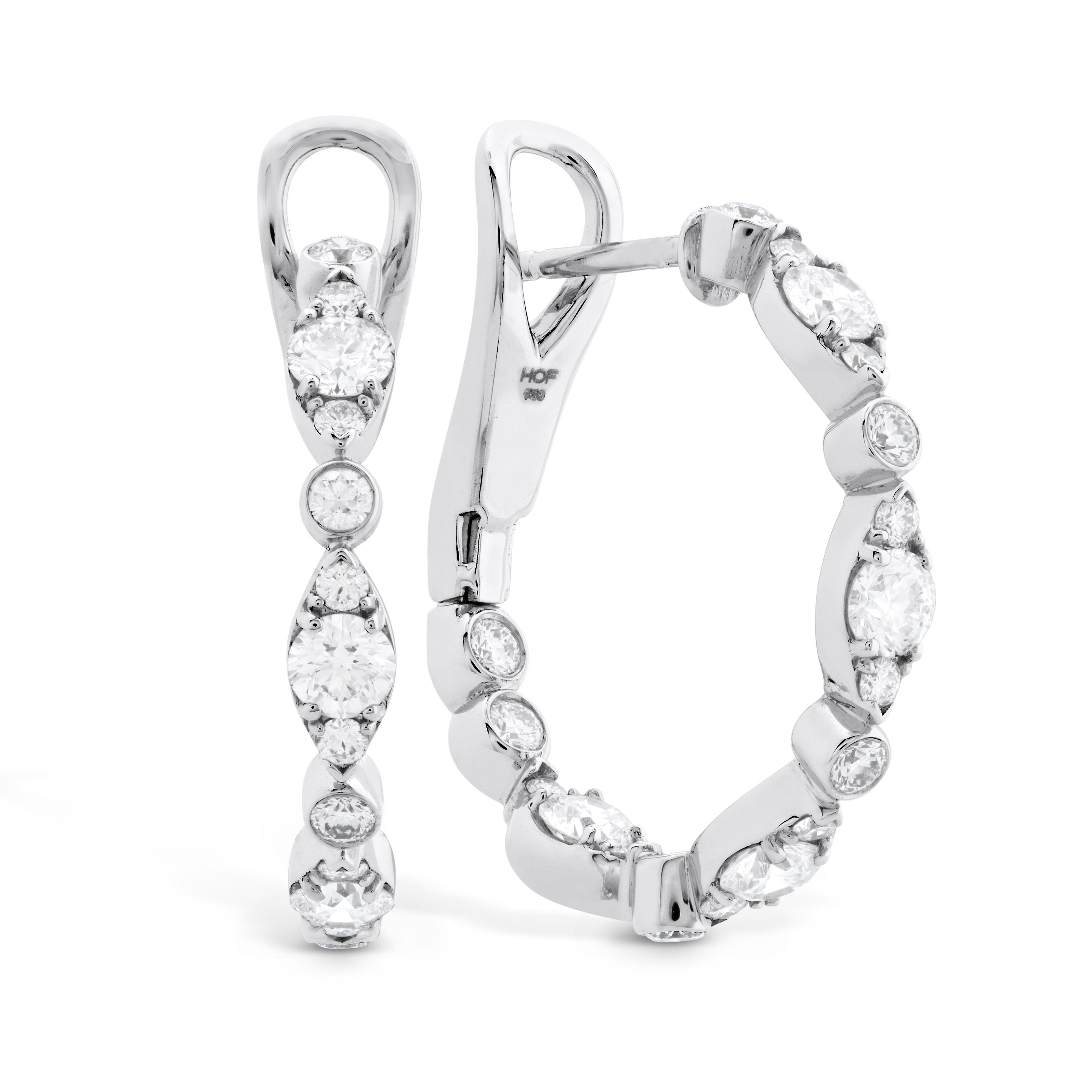 New Hearts On Fire® 1.25 CTW Diamond Inside Out Regal Hoop Earrings