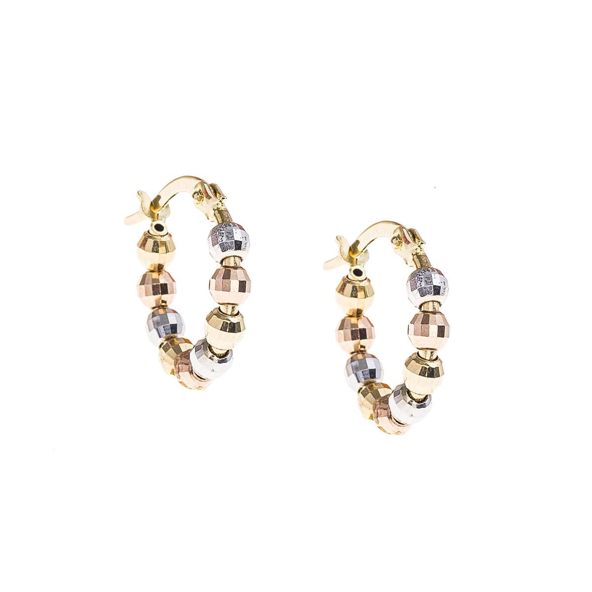 Vintage Bead Hoop Earrings