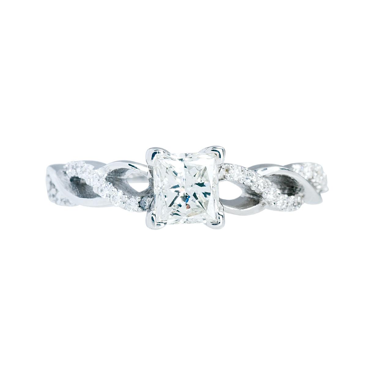Vintage 0.95 CTW Diamond Twist Engagement Ring