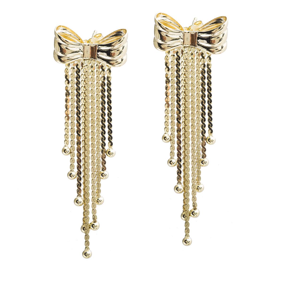 Vintage Bow Fringe Earrings