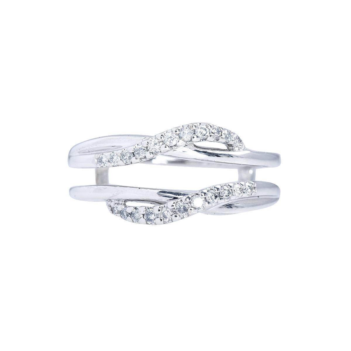 Vintage 0.11 CTW Diamond Ring Guard