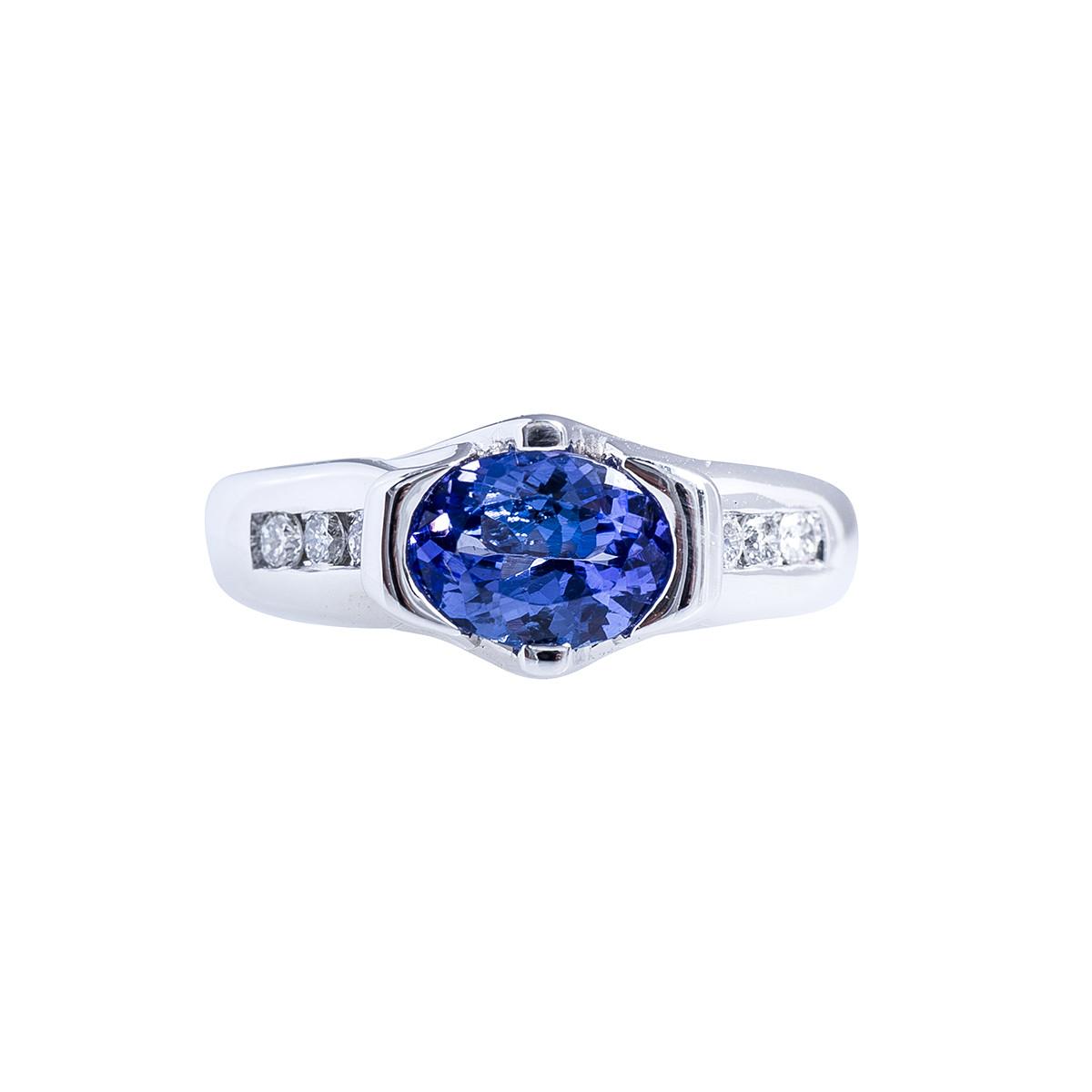 Vintage Levian 1.25 CTW Tanzanite & Diamond Ring