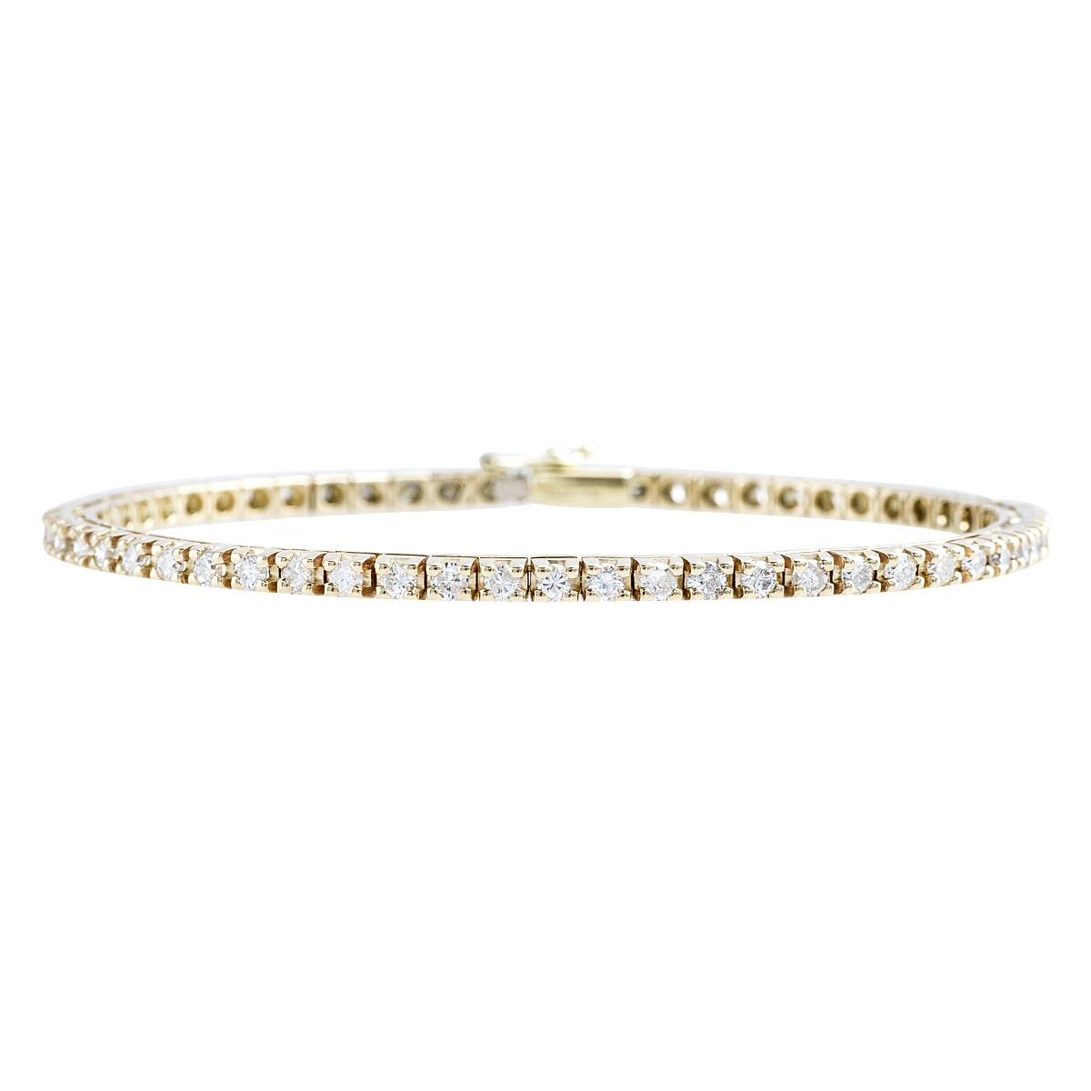 Vintage 2.32 CTW Diamond Tennis Bracelet