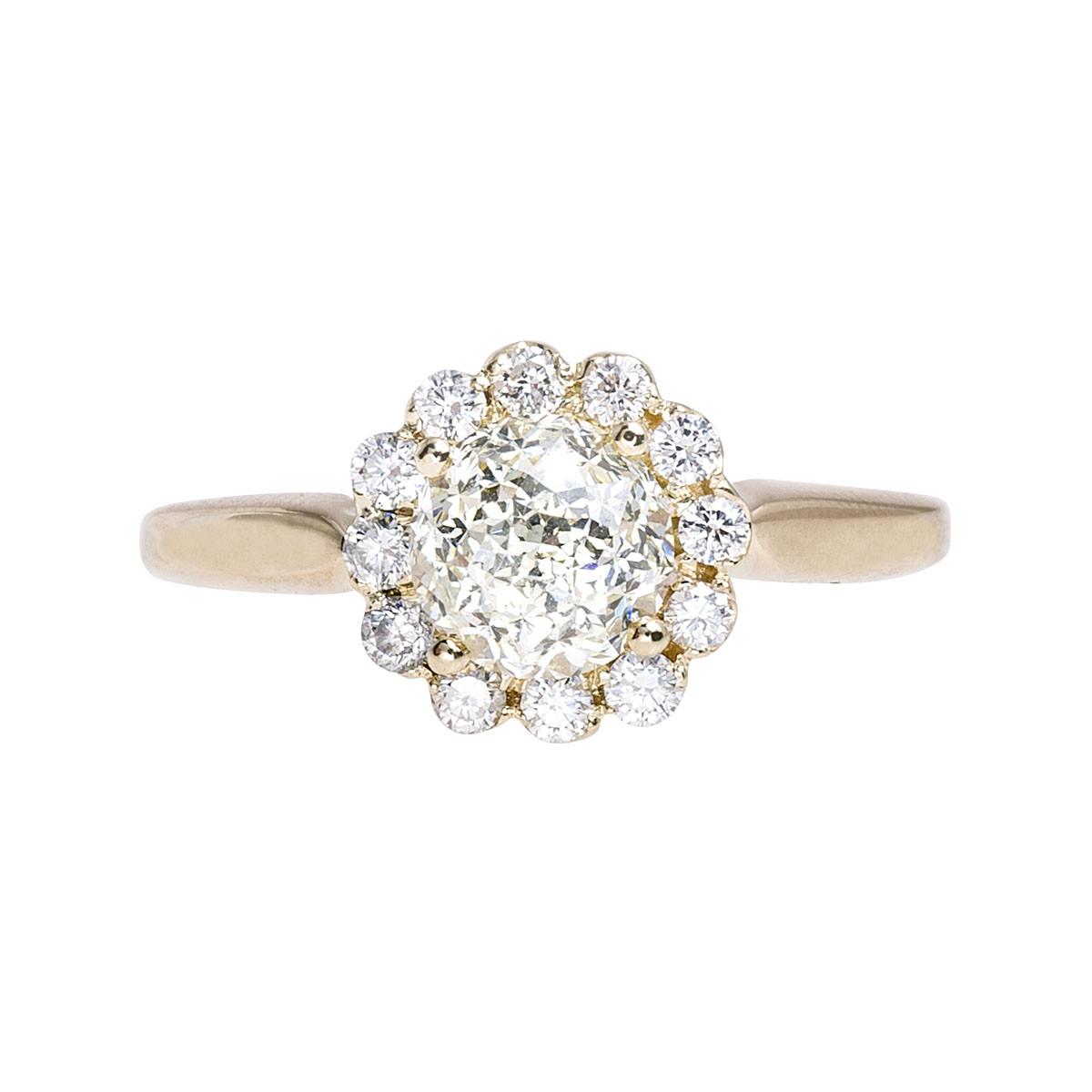 Vintage 1.41 CTW Diamond Halo Ring