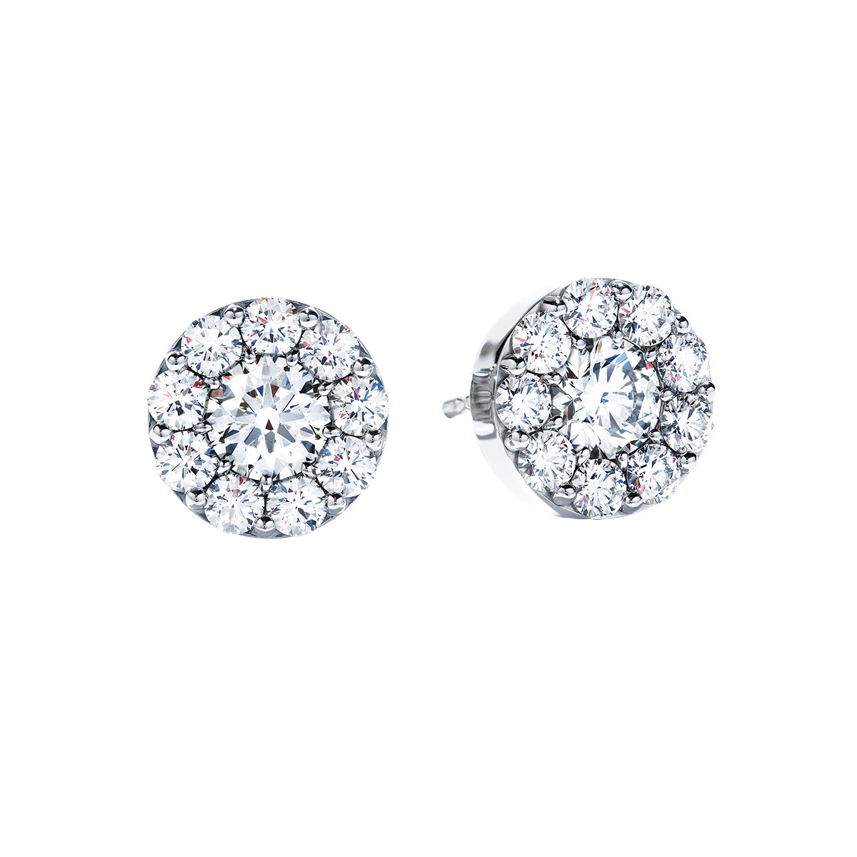 New Hearts On Fire® 1.01 CTW Diamond Fulfillment Round Stud Earrings