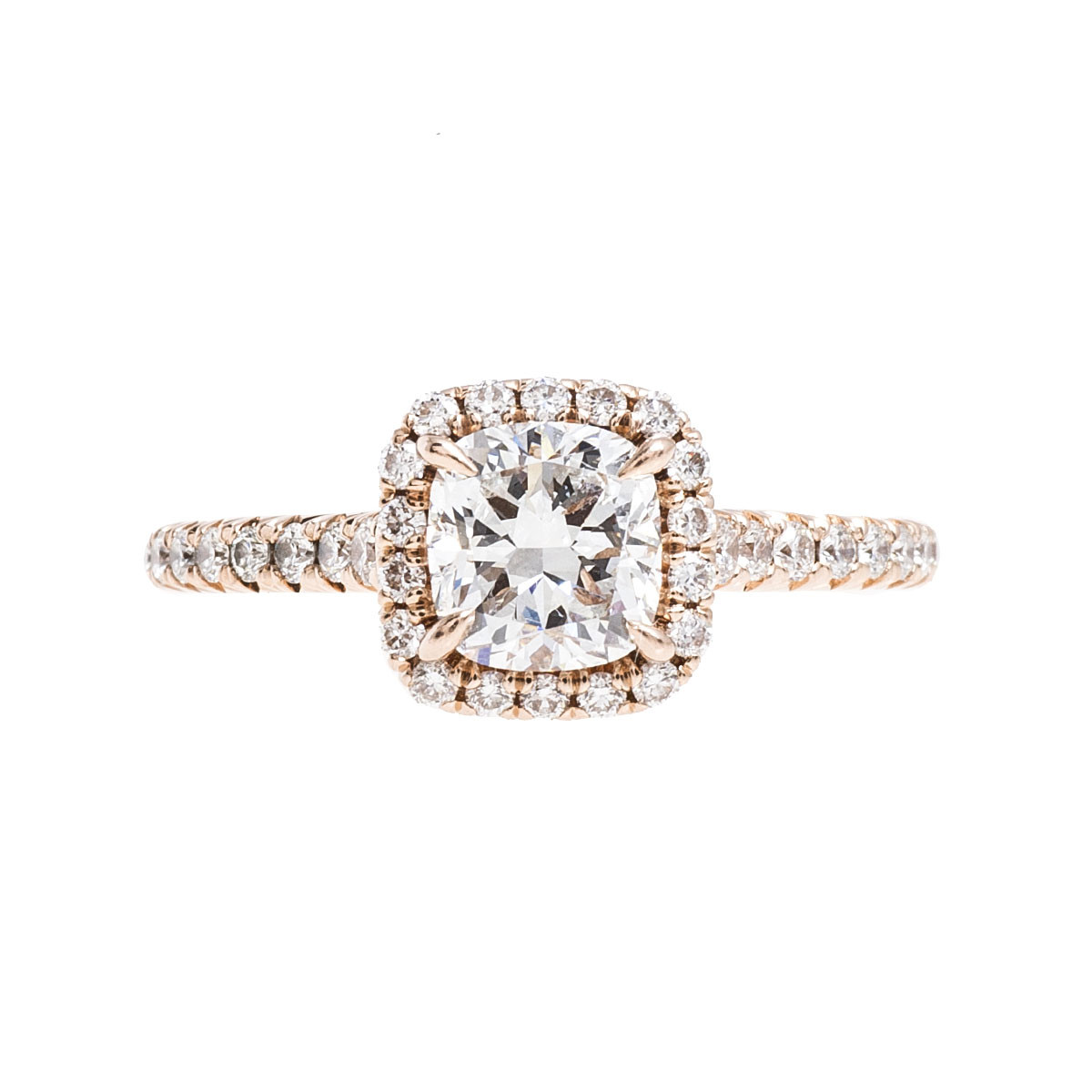 Vintage 1.13 CTW Diamond Halo Ring