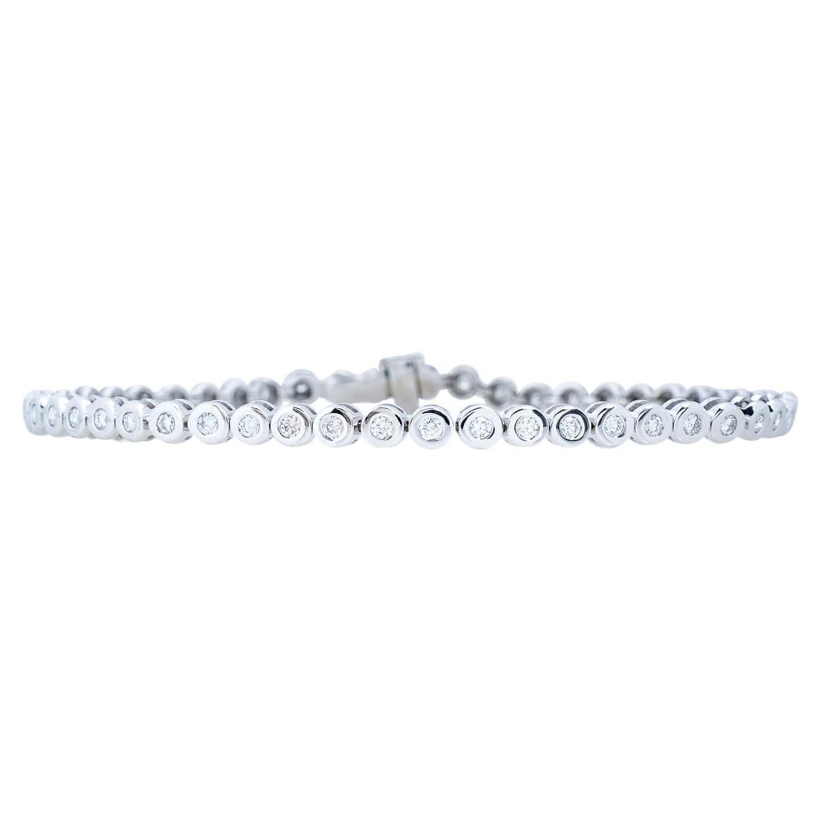 Vintage 1.06 CTW Diamond Tennis Bracelet