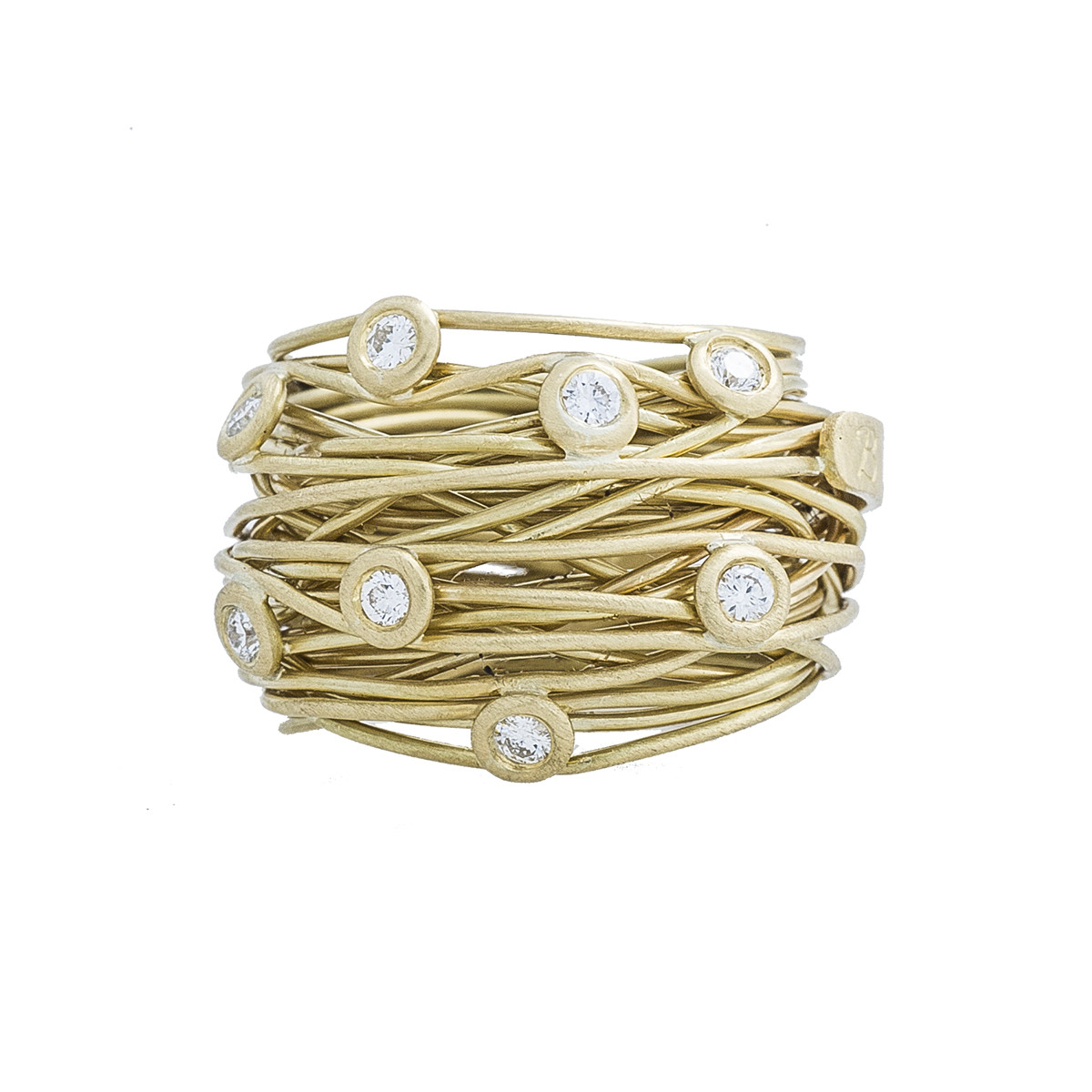 Vintage Boaz Kashi 0.32 CTW Diamond Wire Ring