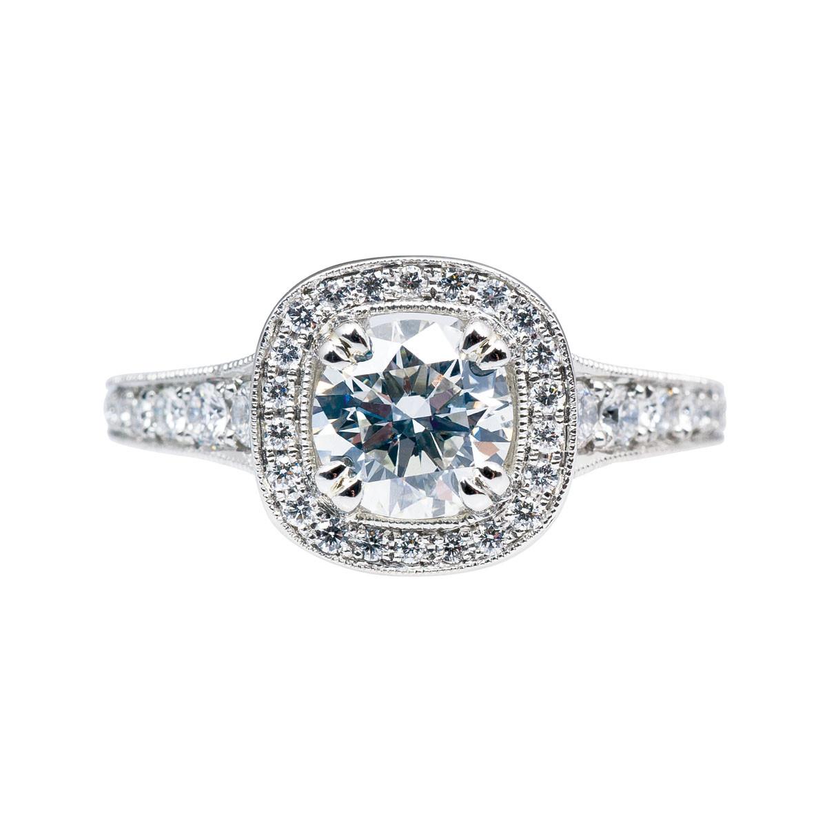 Vintage Jeff Cooper 1.69 CTW Diamond Halo Engagement Ring
