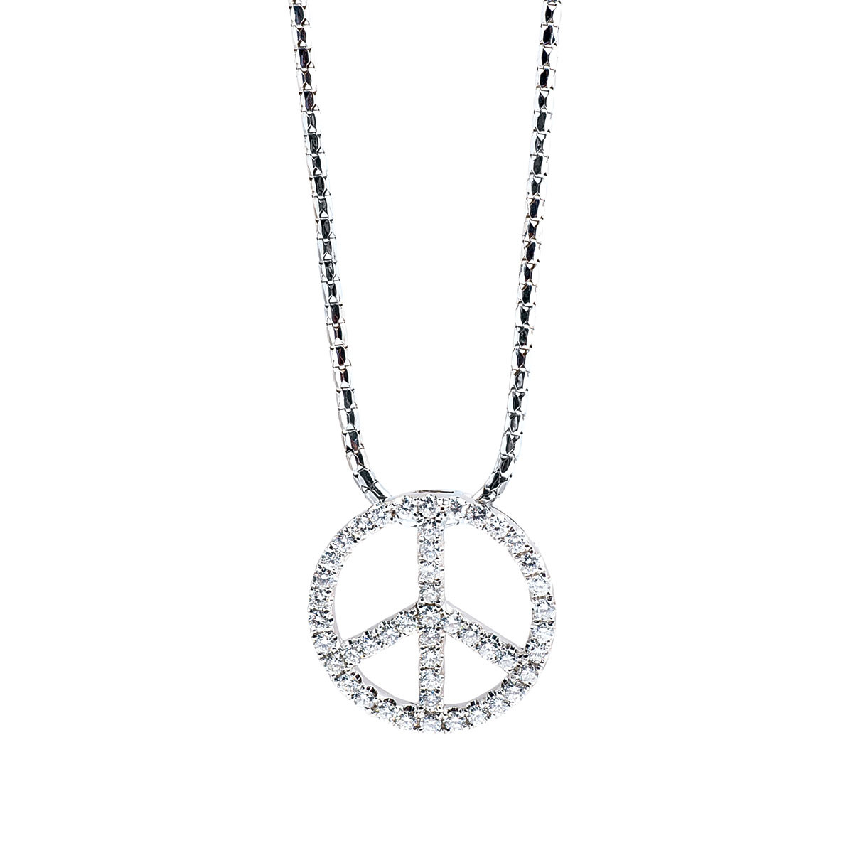 Vintage 0.71 CTW Diamond Peace Necklace