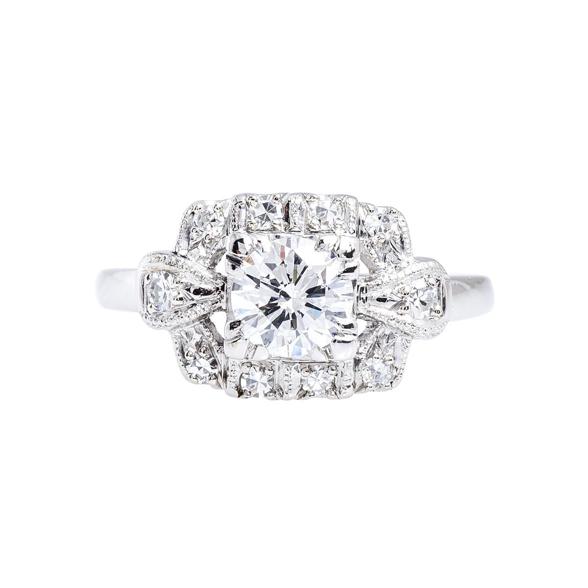 Vintage 0.95 CTW Diamond Engagement Ring