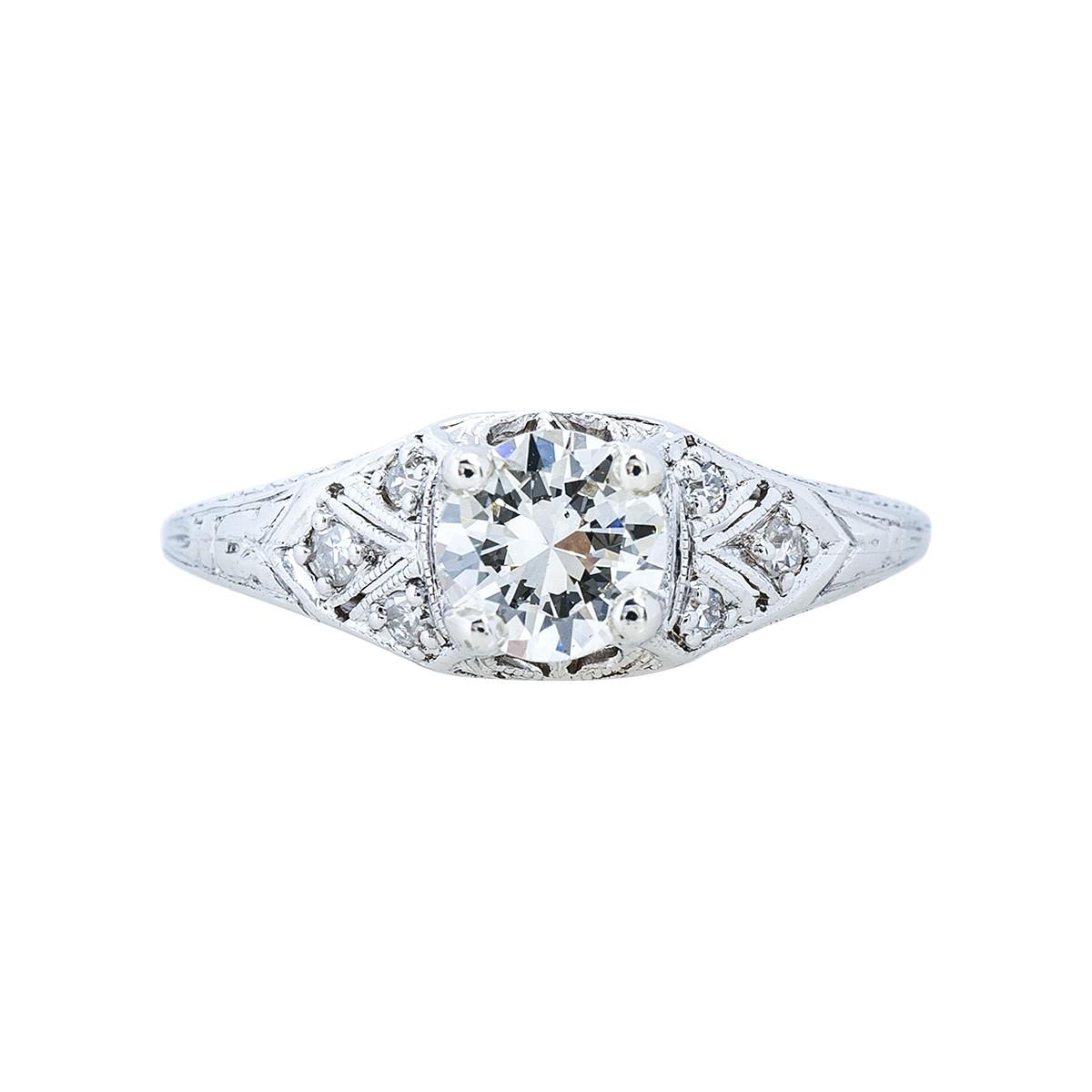 Vintage 0.58 CTW Diamond Engagement Ring