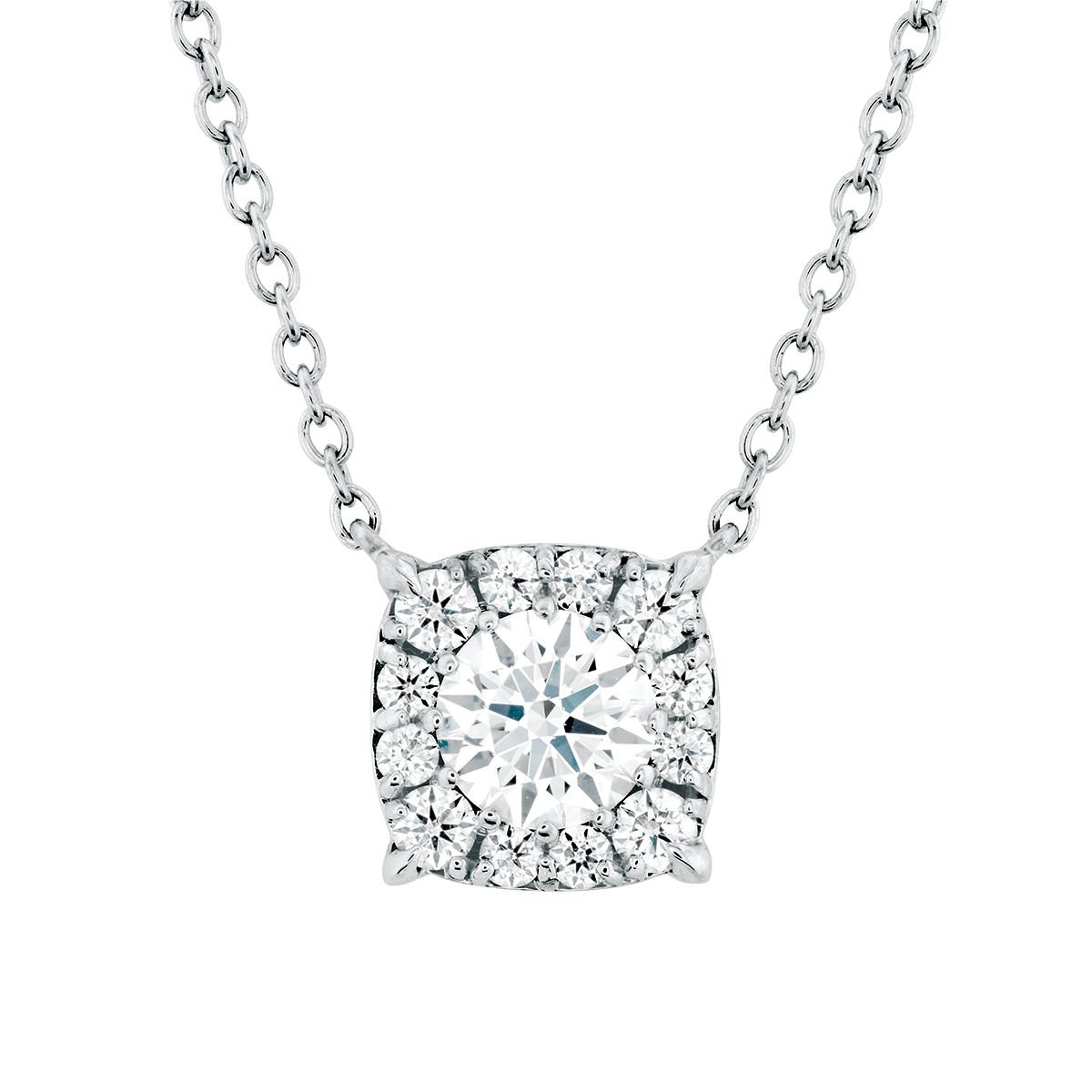 New Hearts On Fire® 0.59 CTW Diamond Custom Halo Pendant