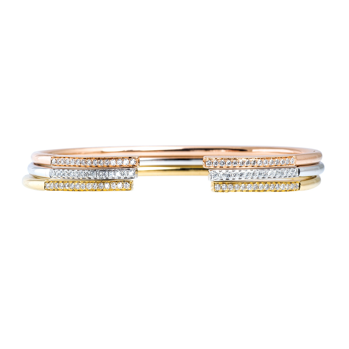 New Mémoire® 0.81 CTW Diamond Bangle Set