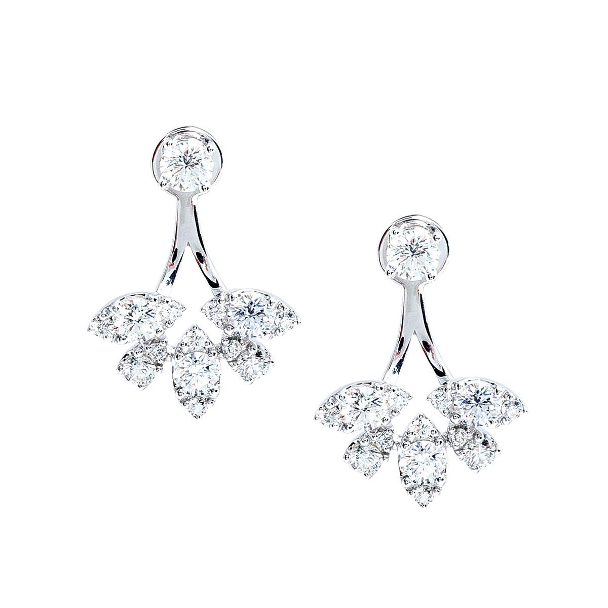 New Mémoire® 1.15 CTW Diamond Earrings & Earring Jackets