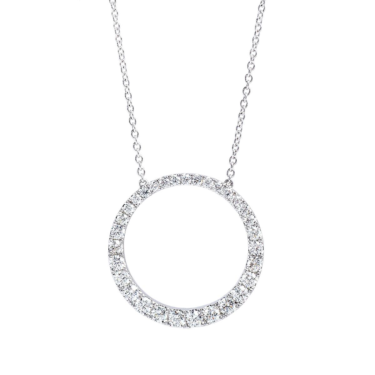 New Mémoire® 1.05 CTW Diamond Circle Necklace