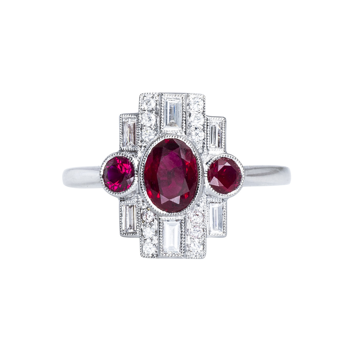 New Beverley K 1.23 CTW Ruby & Diamond Ring