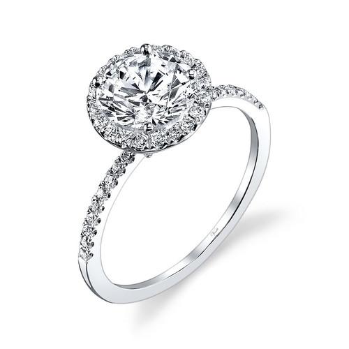 New Venetti 0.32 CTW Diamond Halo Engagement Ring Setting