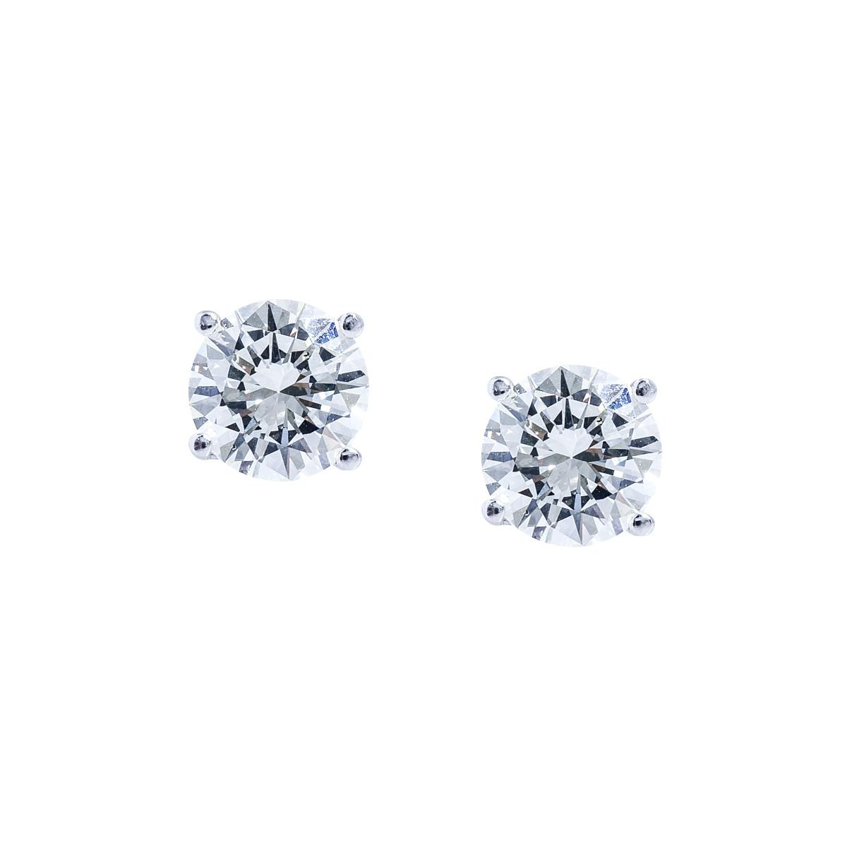 Vintage 3.19 CTW Diamond Stud Earrings