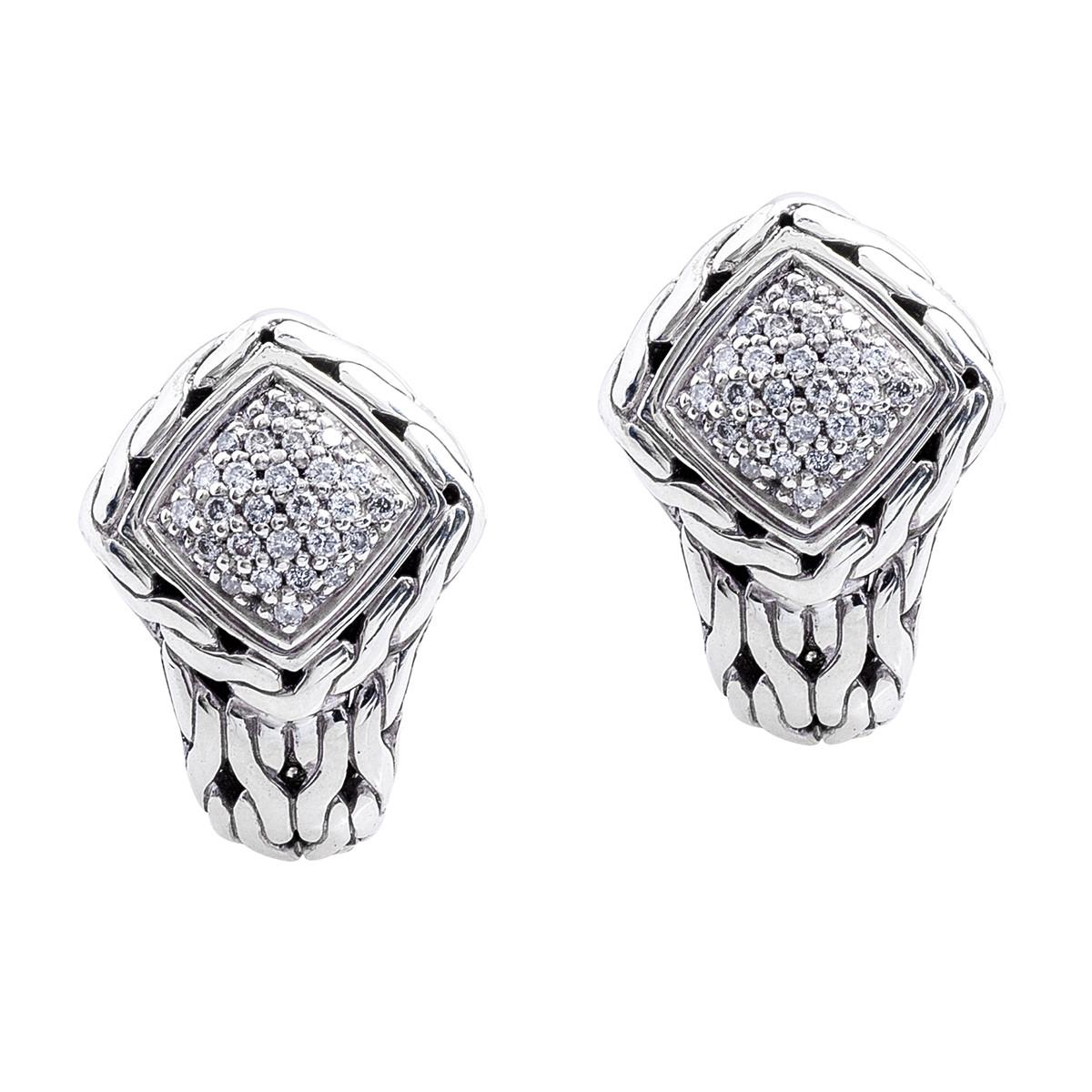 Vintage john hardy ctw diamond earrings shop for John hardy jewelry earrings