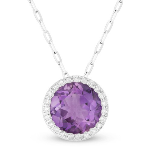 New Madison L 1.51 CTW Amethyst & Diamond Necklace